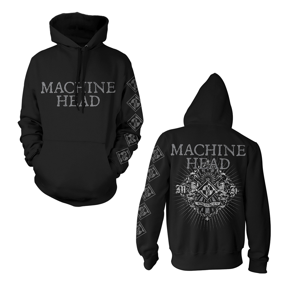 Machine Head -  Lion Crest Rays (Black Pullover Hoodie)