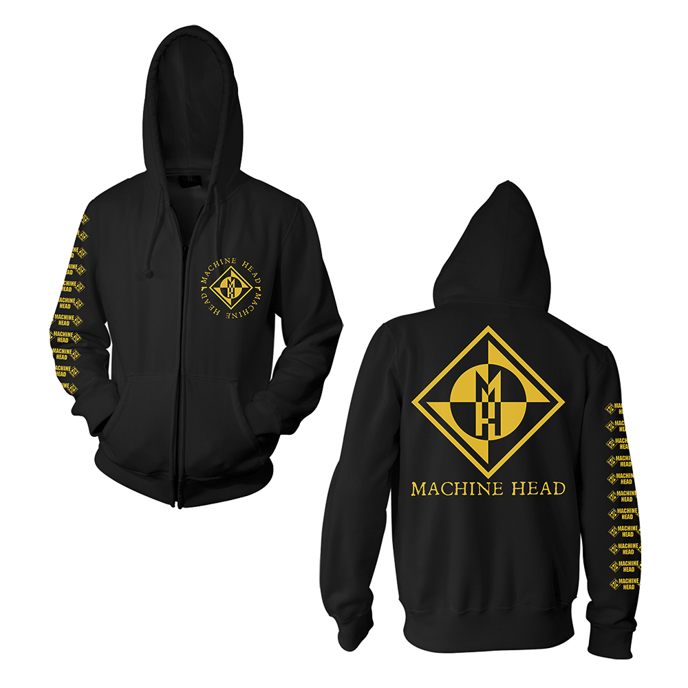 Machine Head - Diamond (Black Zip Hoodie)