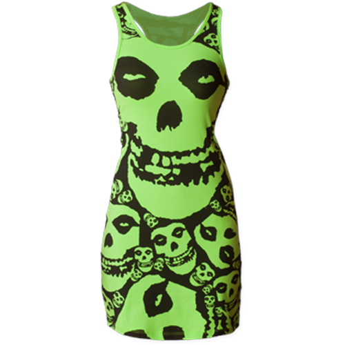 Misfits - All Over Skull Print (Lime)