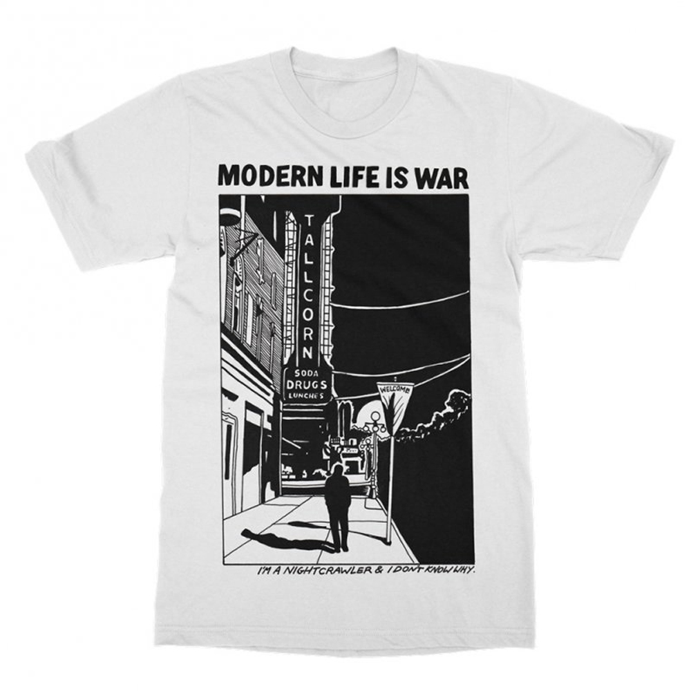 Modern Life Is War - Nightcrawler (White)