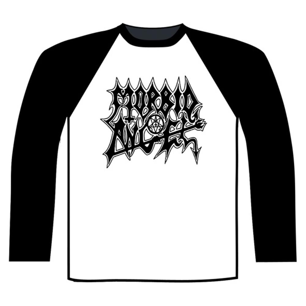 Morbid Angel - Logo Baseball Shirt (Black / White)