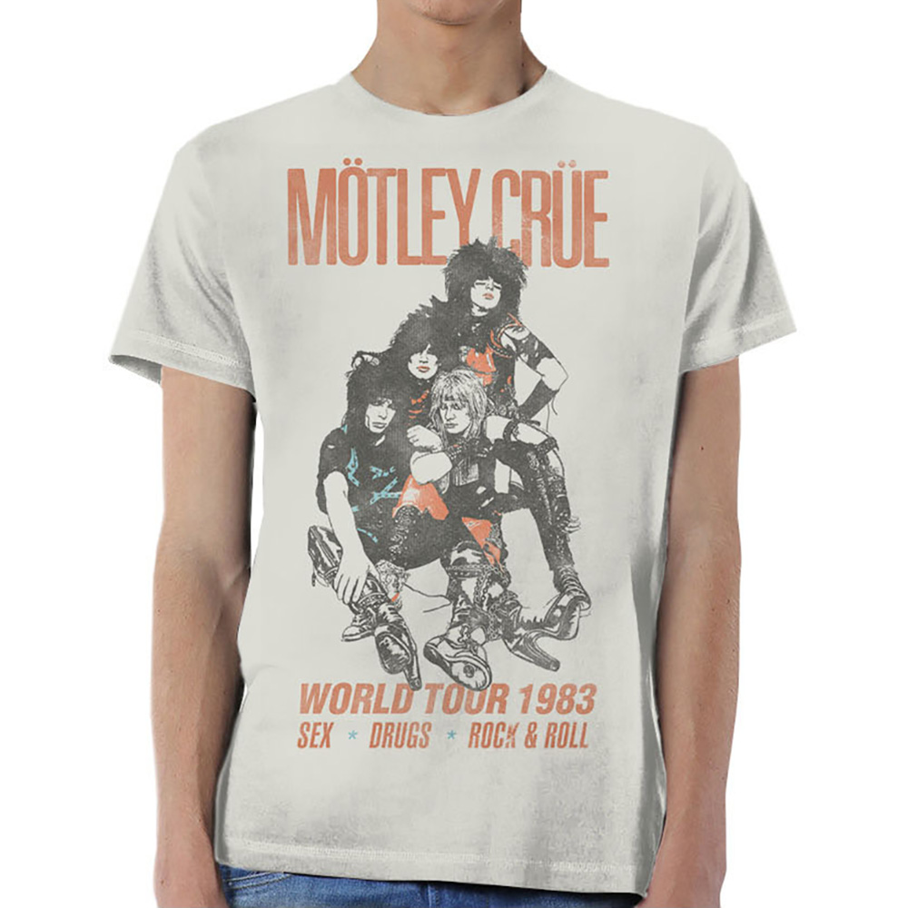Motley Crue - World Tour Vintage (White)