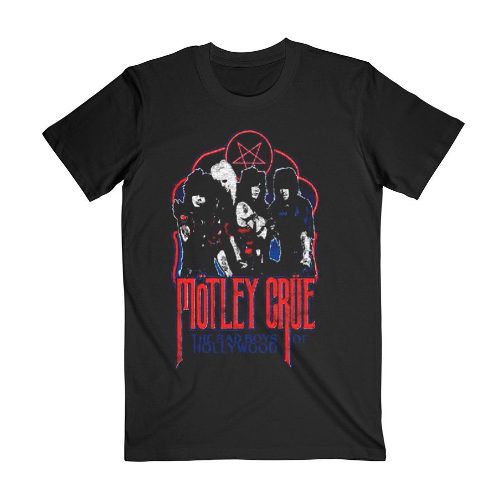 Motley Crue - Bad Boys Pentagram Tee