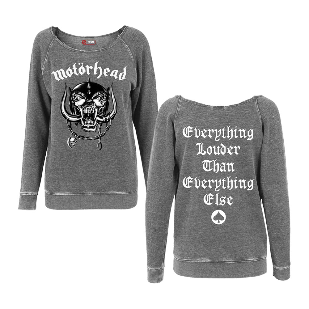 Motorhead - Warpig Logo Ladies Burnout Sweatshirt