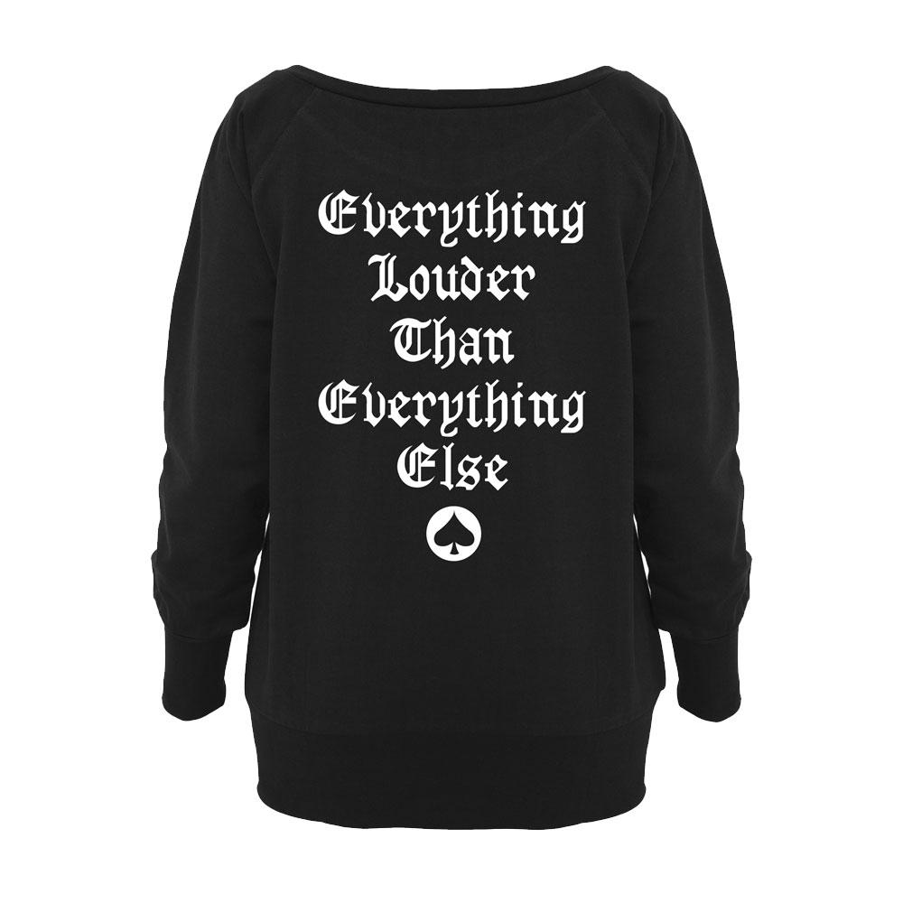 Motorhead - Everything Louder Ladies Wideneck Sweatshirt
