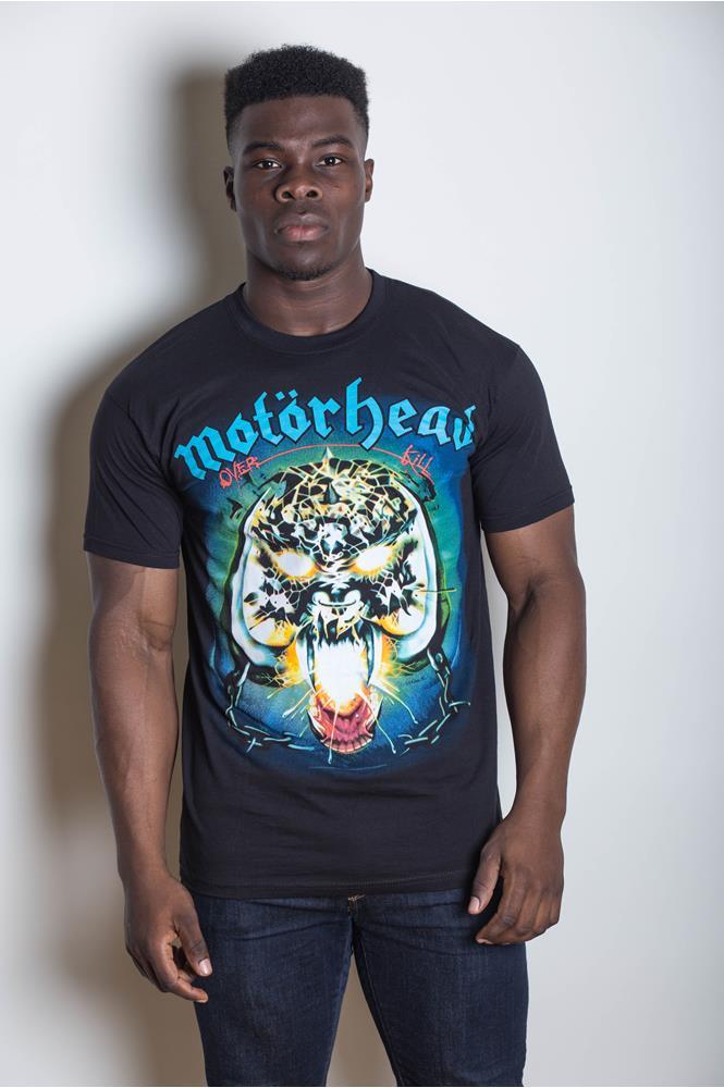 Overkill Playing Card Official Motorhead Men/'s Black T-Shirt