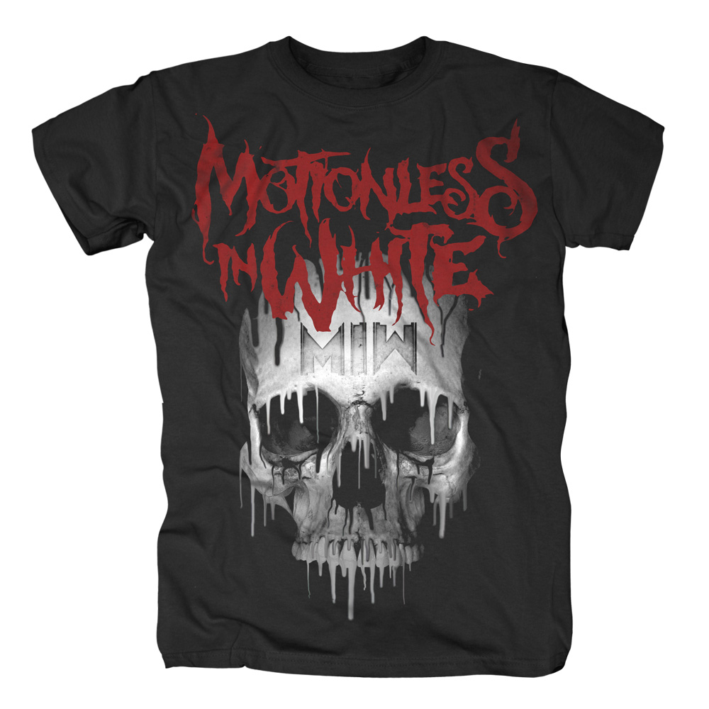 Motionless In White - Melting Skull (Black)