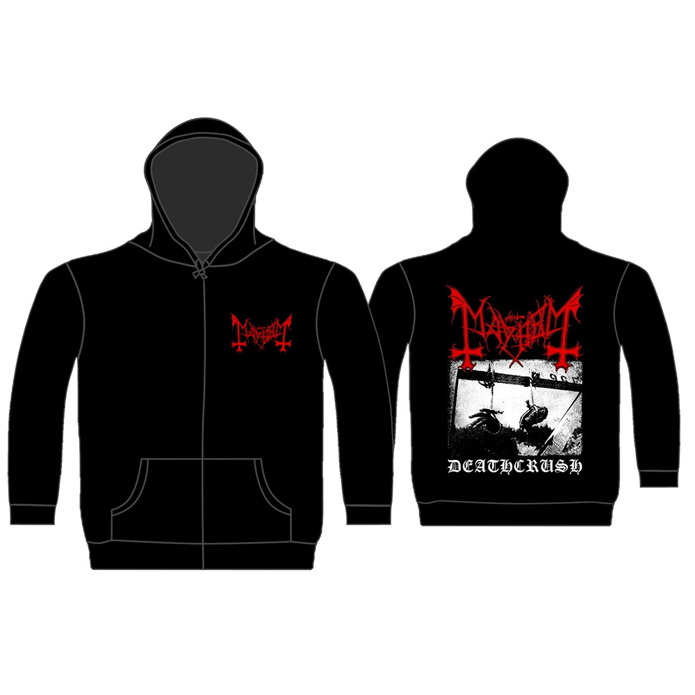 Mayhem - Deathcrush (Black Zip Hoodie)