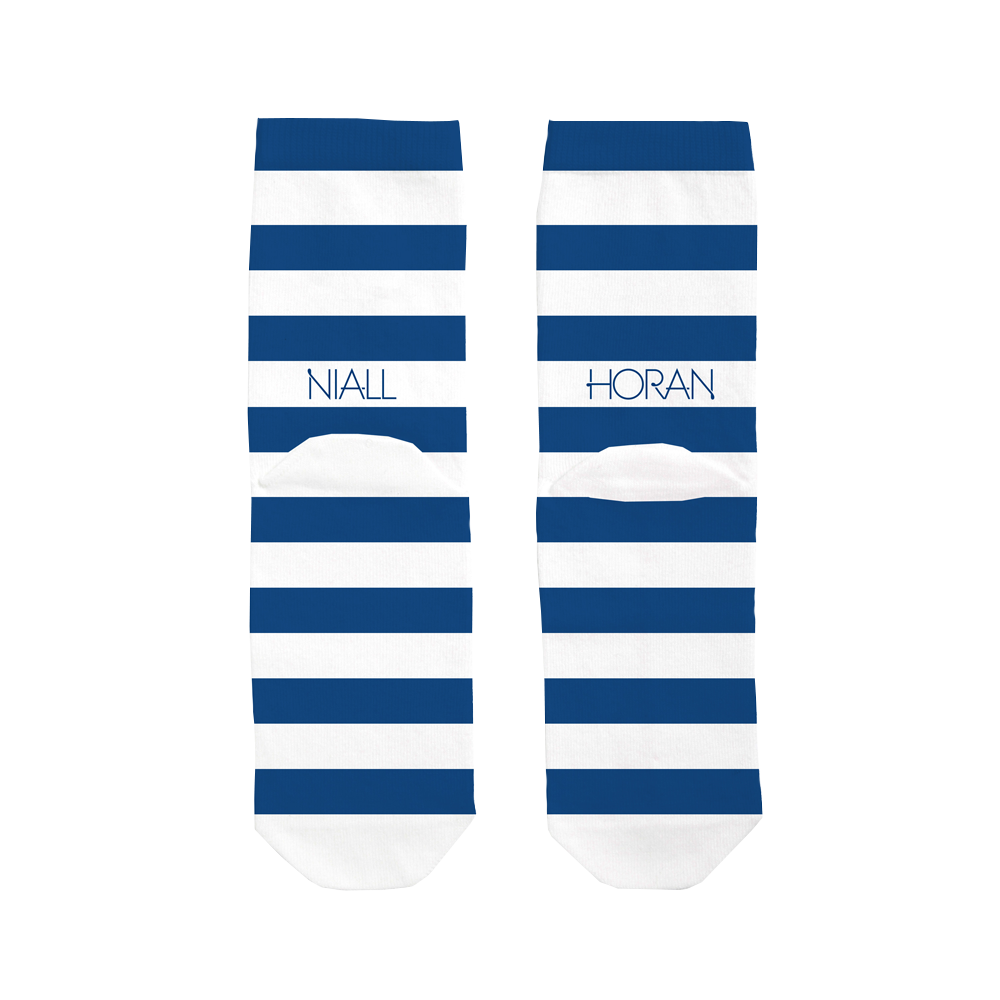 Niall Horan - Blue & White Striped  Socks