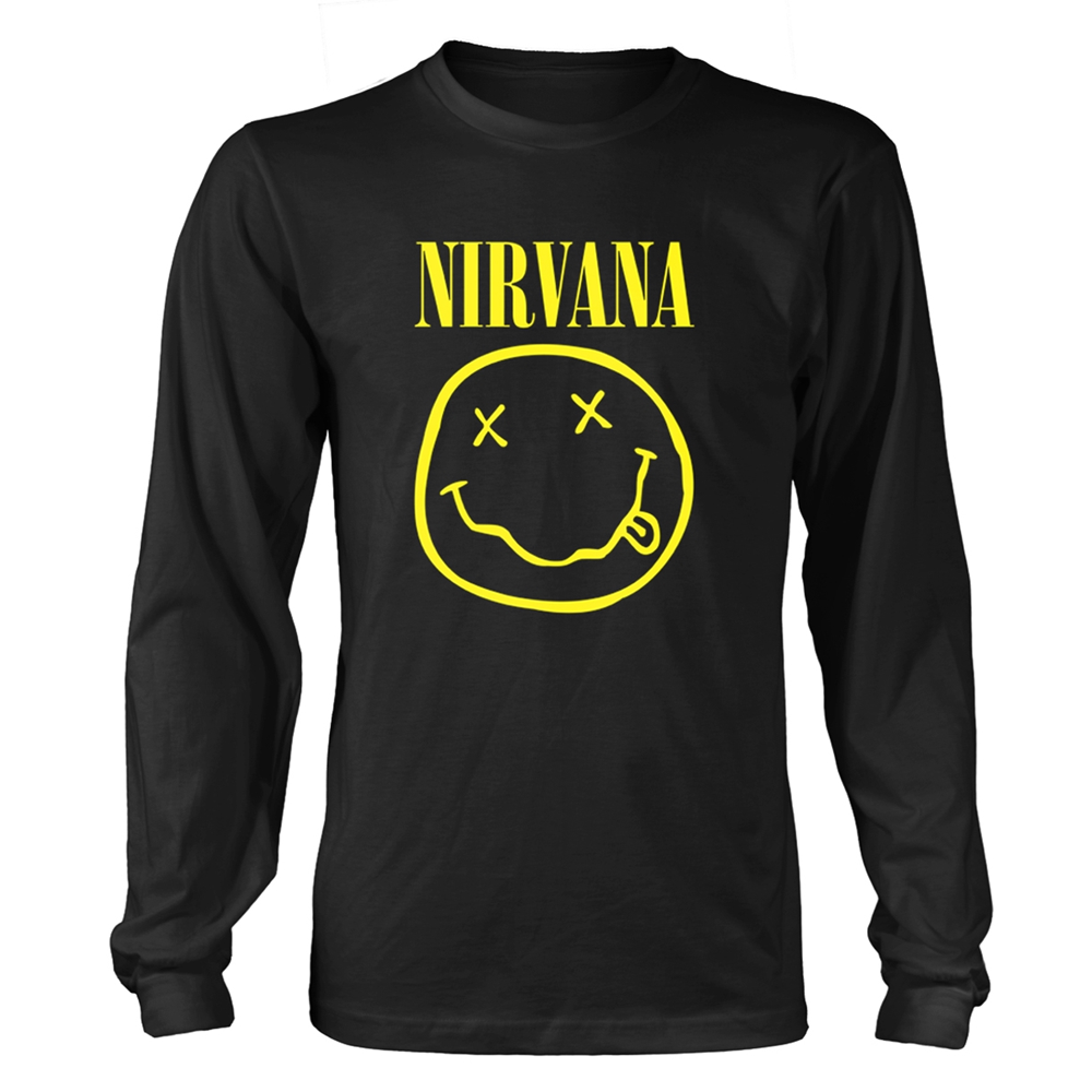 Nirvana - Smiley Logo (Longsleeve)