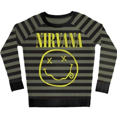 Nirvana - Striped Smiley (Olive/Black)
