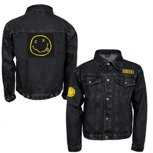 Nirvana - Smile Patches Denim (Black)