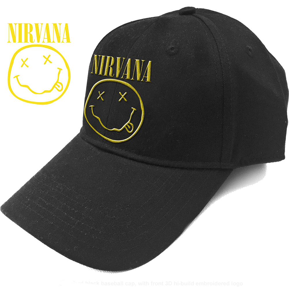 Nirvana - Logo & Smiley (Baseball Cap)