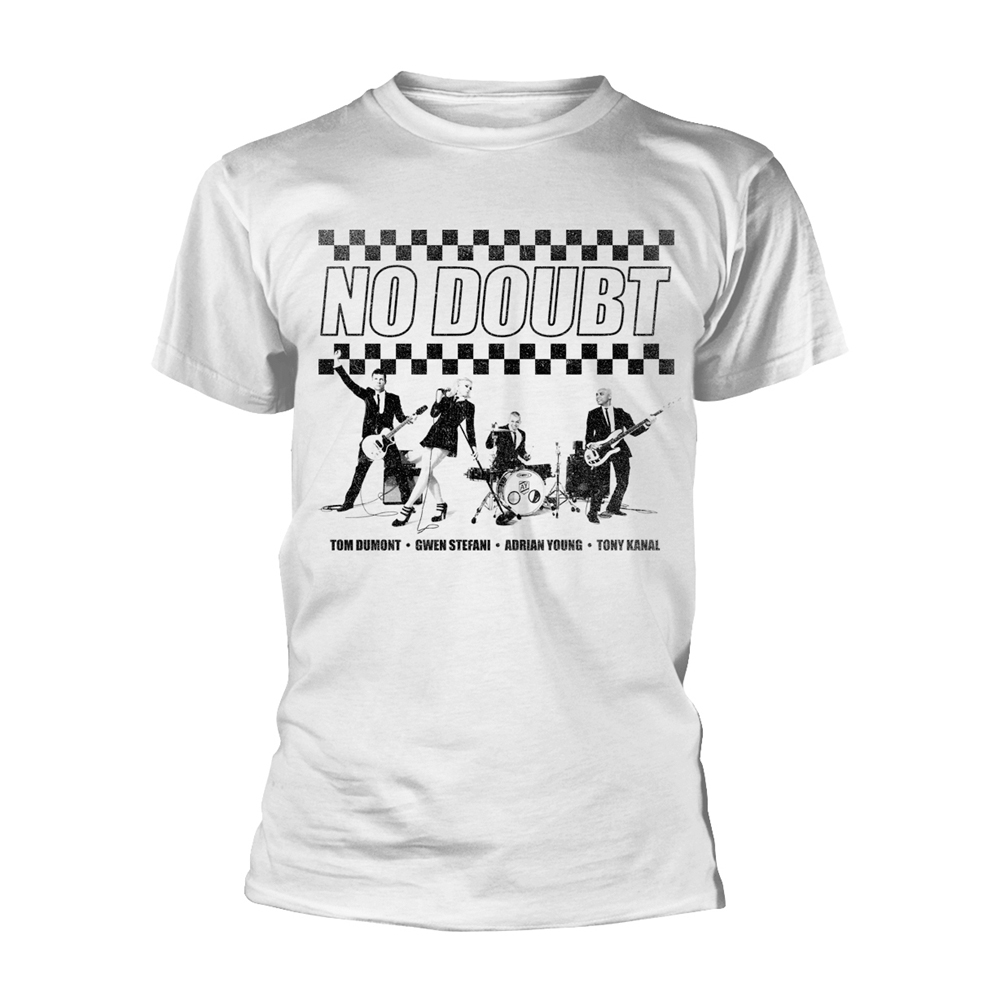 No Doubt - Chequer Distressed (White)