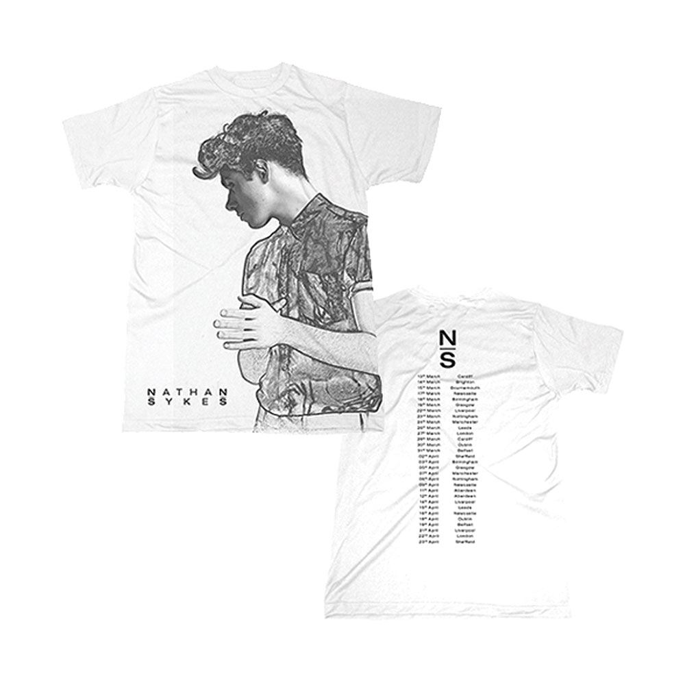 Nathan Sykes - Sketch Photo/2016 Dates (White)