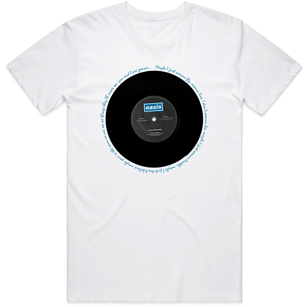 Oasis - Live Forever Single (White)
