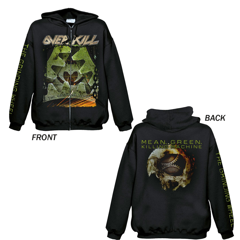 Overkill - The Grinding Wheel (Zipped Hoodie)