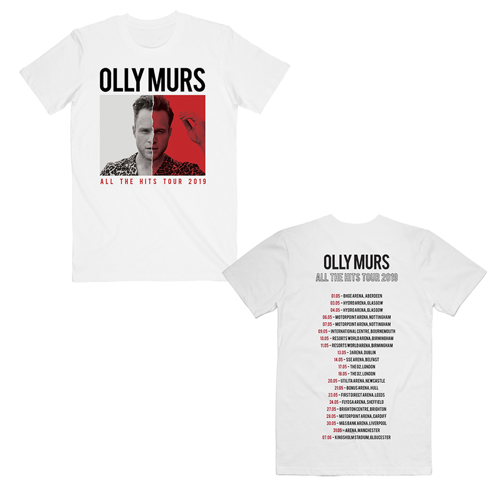 Olly Murs - All The Hits 2019  (Date Back White T-Shirt)