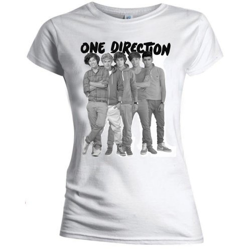 One Direction - Group Standing Black & White (Skinny Fit)