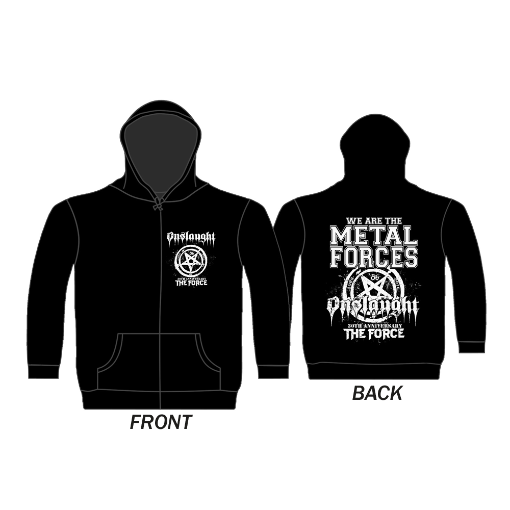 Onslaught - The Force 30th Anniversary (Zip Hoodie)