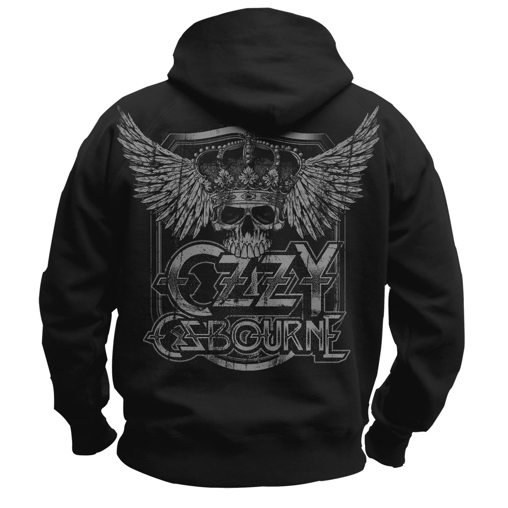 Ozzy Osbourne - Winged Crowned Skull (Black)