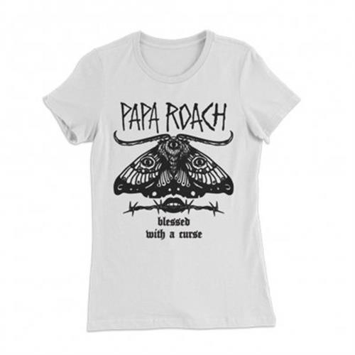 Papa Roach - Blessed Curse (Women's) (White)