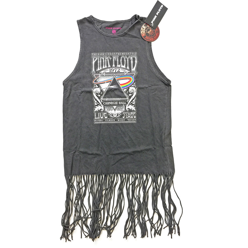 Pink Floyd - Carnegie Hall Tasseled Dress (Charcoal)