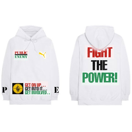 Public Enemy - Fight The Power (Back Print) (White Hoodie)