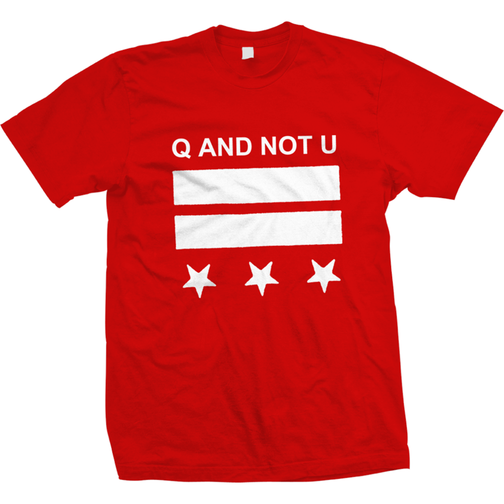 Q And Not U - DC Logo (Red)