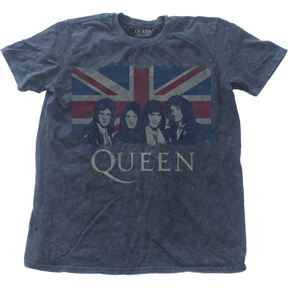 Queen - Vintage Union Jack (Denim Blue - Snow Washed)