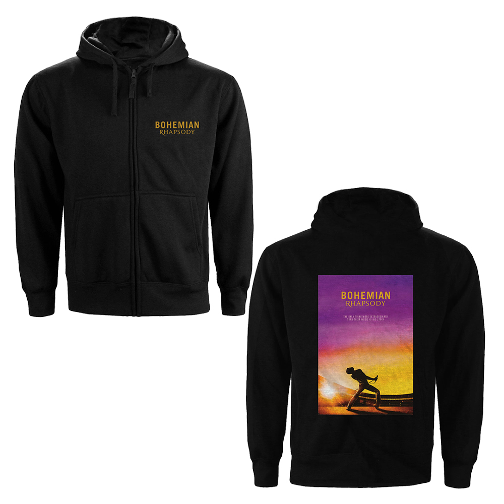 Queen - Bohemian Rhapsody Movie Poster (Back Print) (Zip Hoodie)