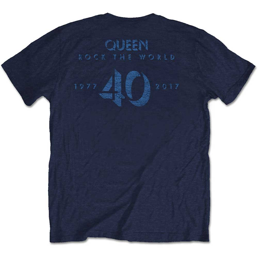 Queen - News of the World 40th Vintage Logo (Back Print)