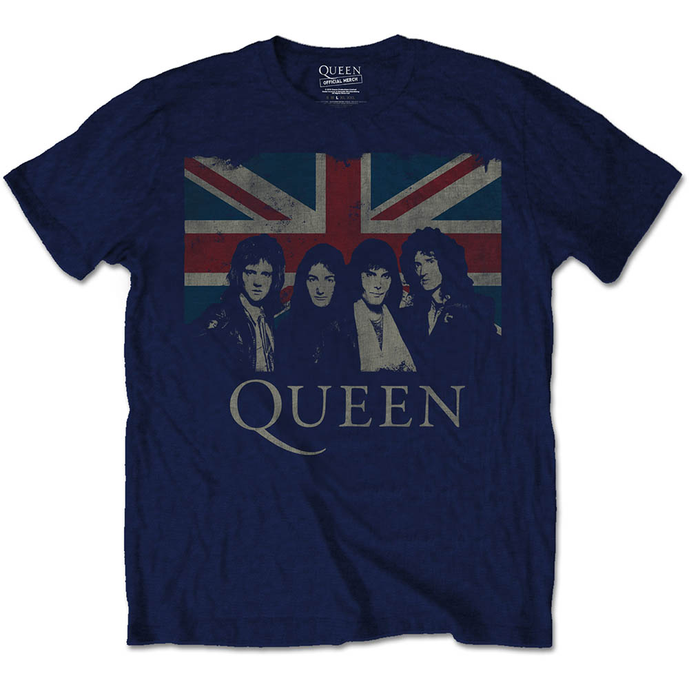 Queen - Vintage Union Jack (Navy)