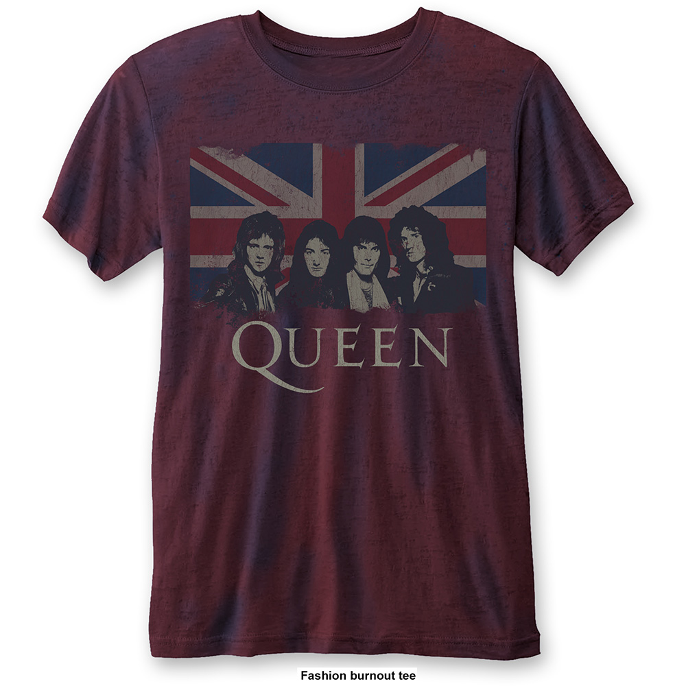 Queen - Vintage  Union Jack Burnout (Navy/Red)