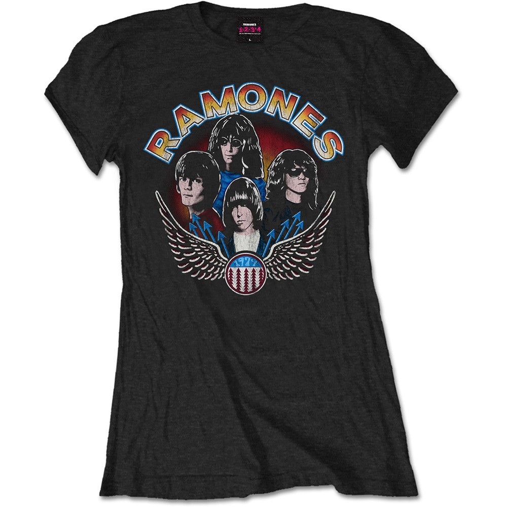Ramones - Vintage Wings Photo (Women's) (Black)