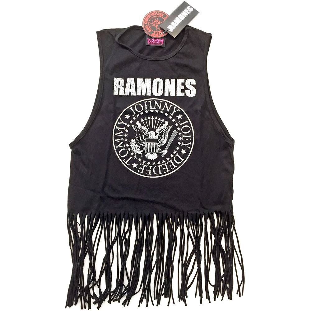 Ramones - Presidential Seal Tasseled Vest (Black)