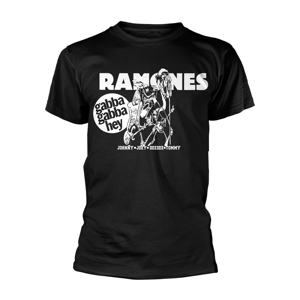 Ramones - Gabba Gabba Hey Cartoon (Black)
