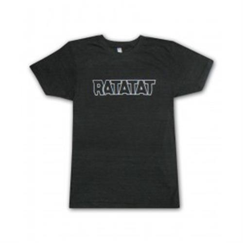 Ratatat - White Logo Outline On Black