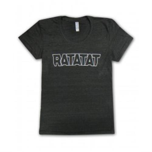 Ratatat - White Outline Logo On Black