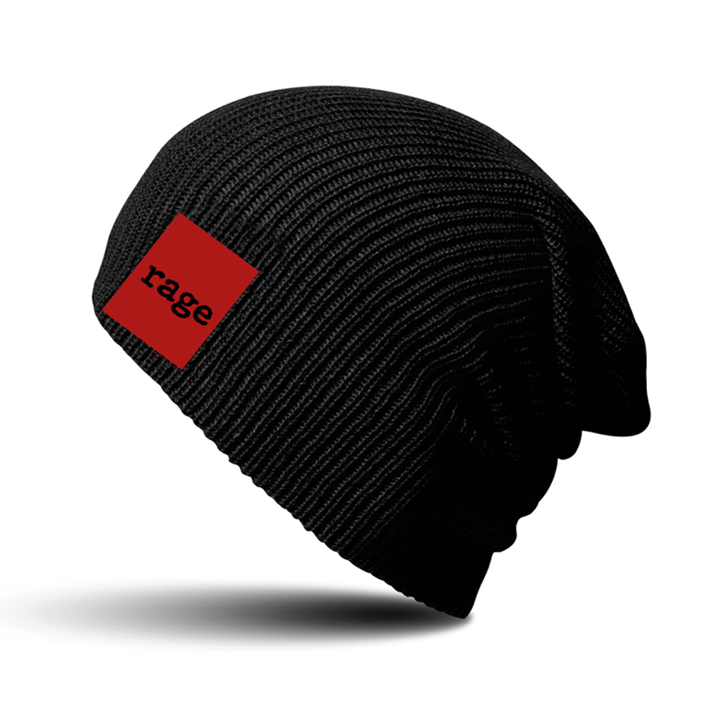 Rage Against The Machine - Red Square Black Beanie