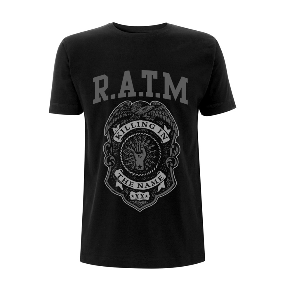 Rage Against The Machine - Grey Police Badge (Black)
