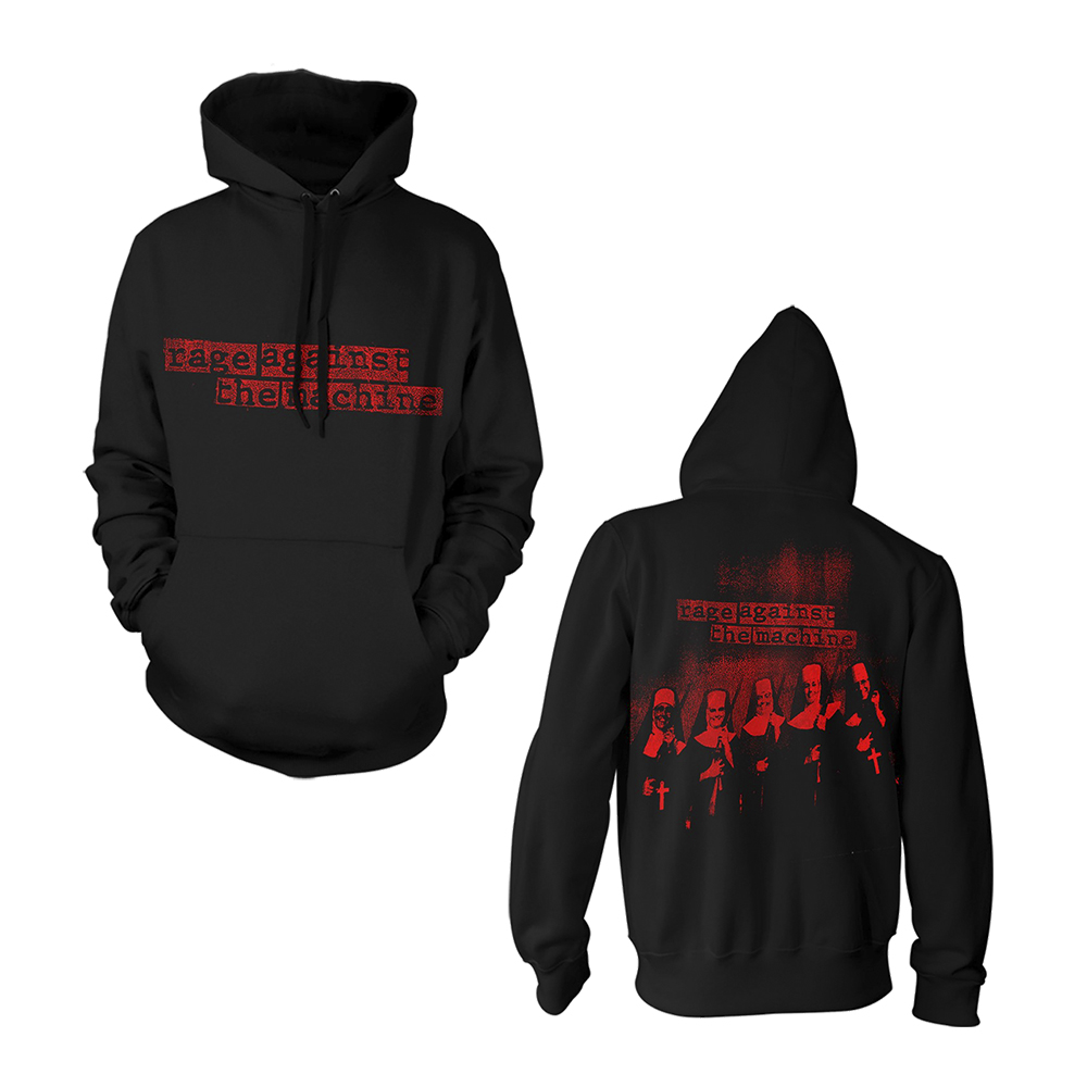 Rage Against The Machine -  Large Nuns (Black Hoodie)