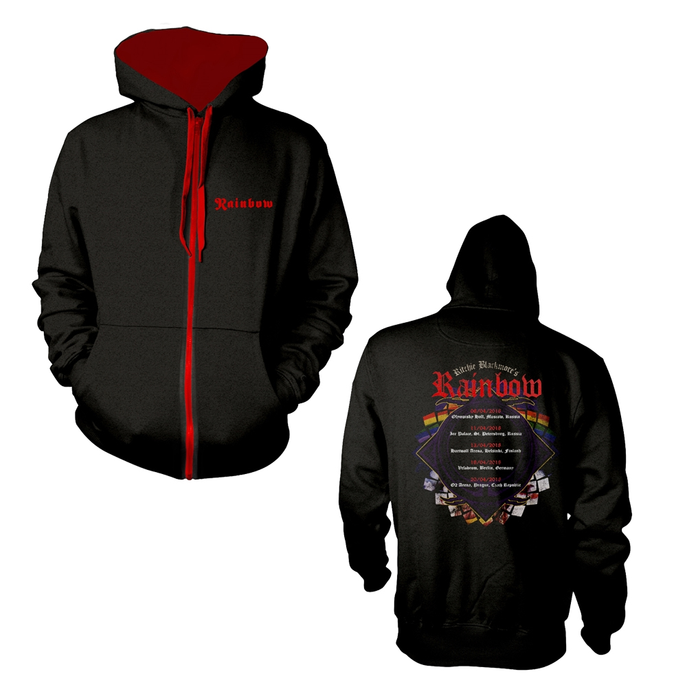 Rainbow - Tour Dates 2018 (Zip Hoodie)