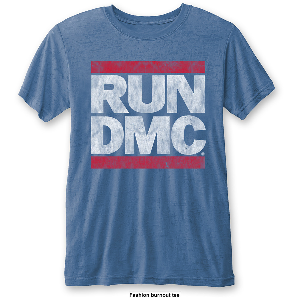 Run-DMC - Logo Vintage Burnout (Blue)