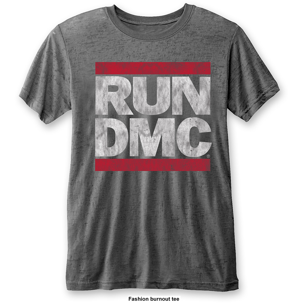 Run-DMC - Logo Vintage Burnout  (Charcoal)