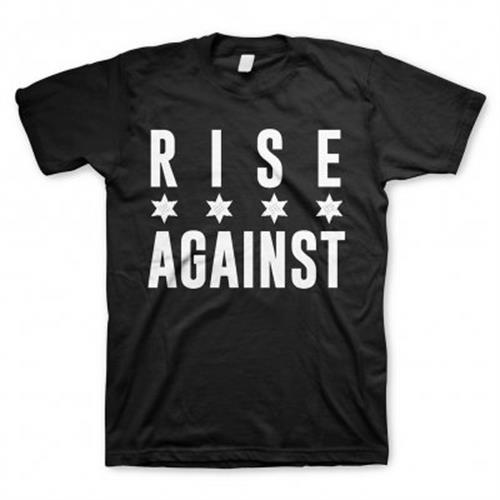 Rise Against - Chicago Flag White (Black)