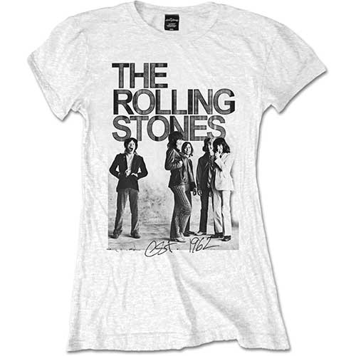 Rolling Stones - 1962 Group Photo (White) (Women's)
