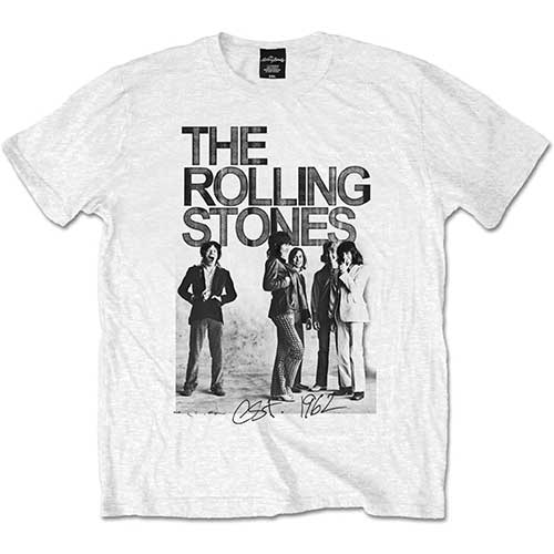 Rolling Stones - 1962 Group Photo (White)