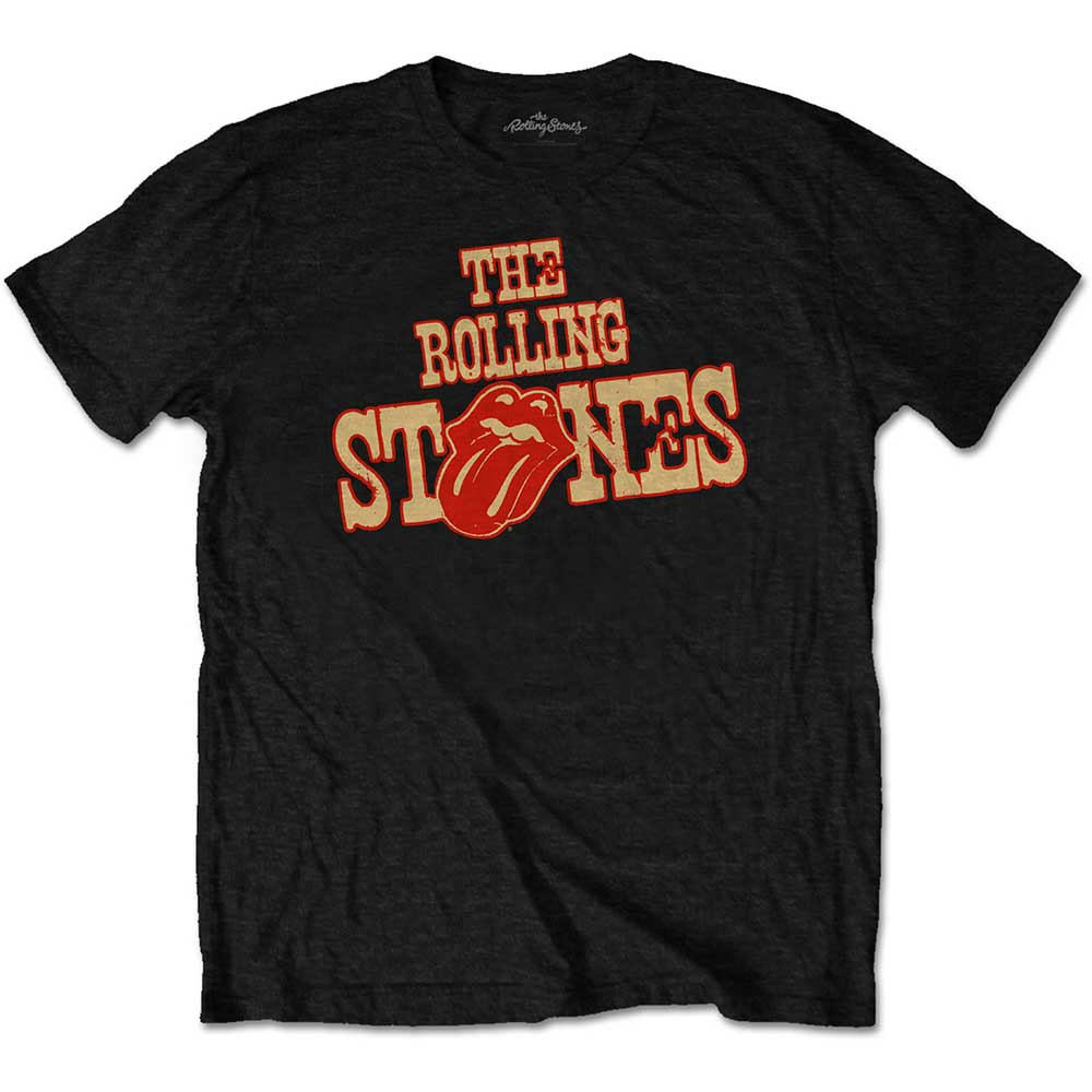 The Rolling Stones Mens T Shirt Grey Union Jack Tongue logo Official