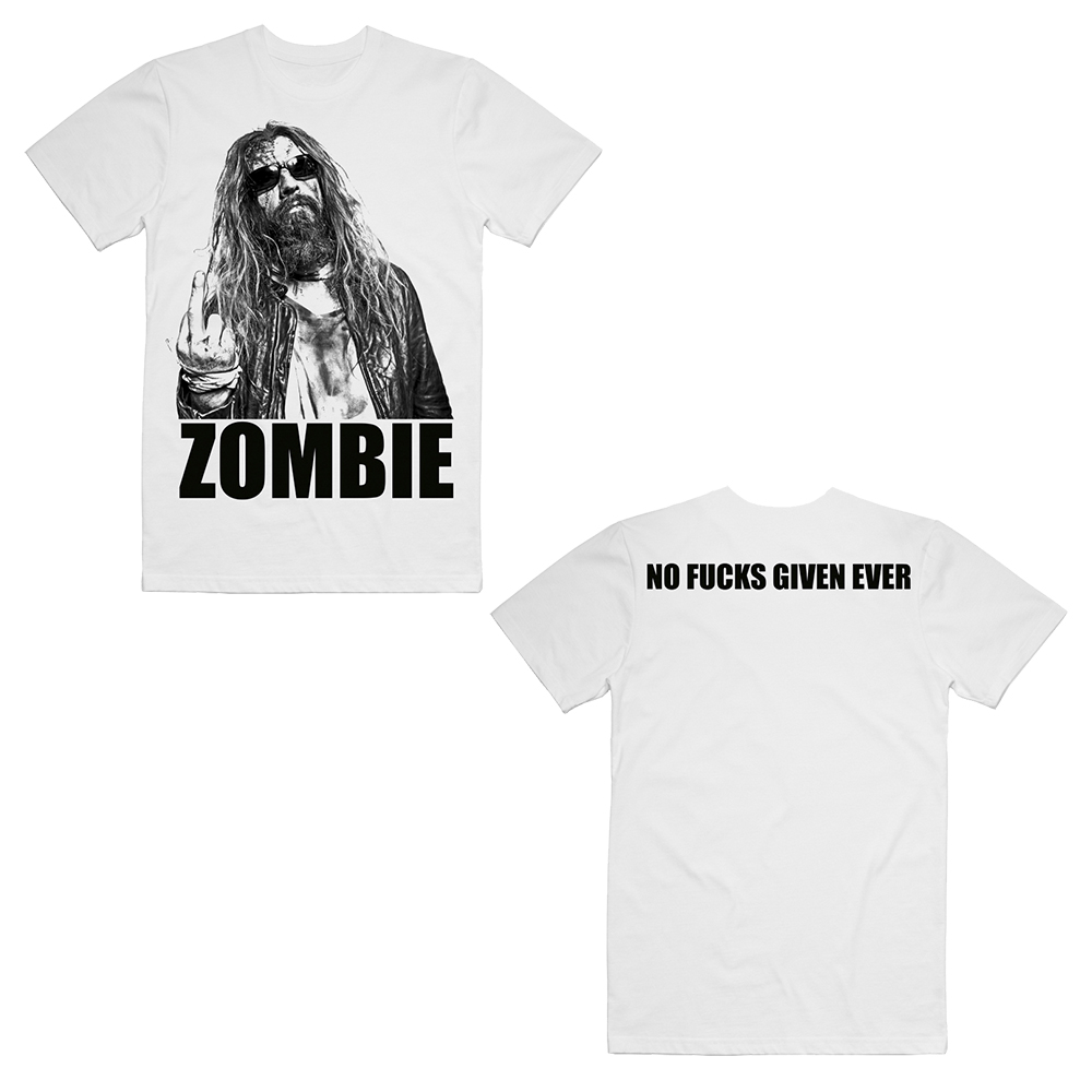 Rob Zombie - Zero Fucks Given Ever White T-Shirt